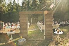rustic ceremony door
