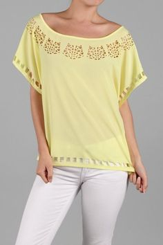 $28 - Yellow laser cut top