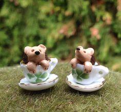 Hedgehog miniature figurine in Irish shamrock by Beneaththeferns