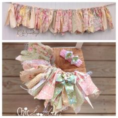 Fabric Tutu TEA TIME Vintage tea party lace by ChicSomethings