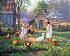 MARK KEATHLEY...feeding the chooks and collecting the eggs...do you like eggs??  I LOVE them!!