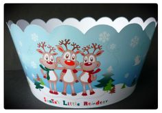 *GIANT WRAPPER* Santas little reindeer giant cupcake wrapper. Made from thick photo card so that there is no grease transferral!  £4.10 each or £7.40 for 2 inclusive of postage.