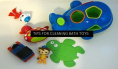Bath toys can add fun and learning to bath time but what do you do when you spot that icky black mould lurking inside that rubber ducky? Cleaning Bath Toys, Kid Activities, Bath Time, Bathing, Preschool, Parenting, Good Things, Babies, Learning