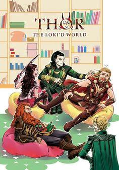"""Loki finally triumphs over Thor. """"See, who needs a hammer? I just pushed you with my bare hand. Loki Thor, Tom Hiddleston Loki, Loki Laufeyson, Marvel Avengers, Marvel Comics, Baby Avengers, Loki God Of Mischief, Dc Memes, Marvel Memes"""