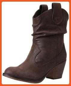 Rocket Dog Women's Sheriff Vintage Worn PU Western Boot, Brown, 8.5 M US - Boots for women (*Amazon Partner-Link)