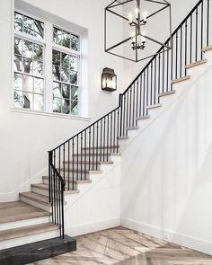 Modern stair railing black metal stair railing remarkable interior amazing modern staircase design home iron . Wrought Iron Stair Railing, Metal Stairs, Staircase Railings, Modern Staircase, Staircase Design, Banisters, Iron Railings, Staircases, Staircase Makeover