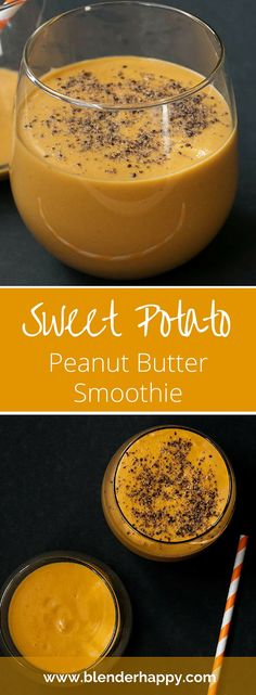 Sweet Potato Peanut Butter Smoothie delivers a tasty vegan snack or breakfast. Made with just four ingredients it is a great smoothie to add to your routine.
