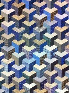 IMG_0038. Inner city. Trefoil. Half-hexagons. Half-hex. Y seam. Tumbling block.