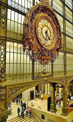 Clock at the Musée D'Orsay, in Paris