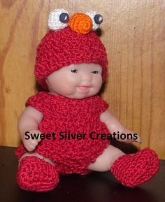 Crochet+Pattern++5.5+inch+Berenguer/Lots+by+SweetSilverCreations,+$3.25