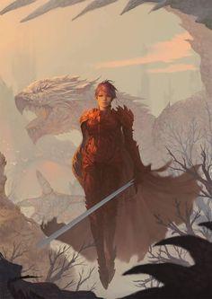 Kara – fantasy cover concept by Ina Wong Dark Fantasy, Fantasy Rpg, Medieval Fantasy, Fantasy World, Warrior Girl, Fantasy Warrior, Fantasy Artwork, Fantasy Character Design, Character Art