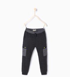 """Image 1 of """" WL"""" sporty trousers from Zara Baby Pants, Kids Pants, Kids Fashion Boy, Girl Fashion, Boys Joggers, Jogger Pants, Sweatpants, Biker Baby, Cheap Mens Fashion"""