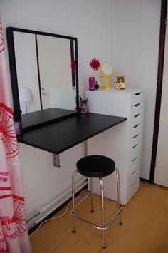 Simple Ikea vanity setup.