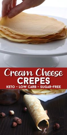 Recipes Paleo These keto almond flour crepes stay flexible even after a few days in the fridge. A delicious breakfast or dessert, you can stuff them with all your favorite sugar-free fillings. Or make a savory version for a delicious keto wrap! Low Carb Fast Food, Low Carb Keto, Low Carb Recipes, Keto Fast, Steak Recipes, Shrimp Recipes, Chicken Recipes, Cooking Recipes, Yogurt Recipes