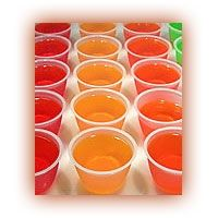 Margarita Jello Shots    1 3 oz. Box of lime Jello (or any flavor, really)  1 Cup boiling water  1/4 Cup triple sec  3/4 Cup tequilla