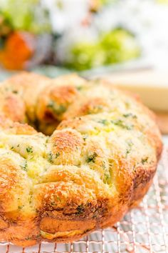 This Garlic Parmesan Monkey Bread is so easy to make and packs tons of flavor! Perfect as a savory side for brunch and dinner!