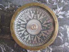 Nautical Desk Top Compass, Brass Compass, 1930s Compass, Compass, Marine Compass, Functional Compass, Vintage Compass, Navigation Compass by valeriemv59 on Etsy