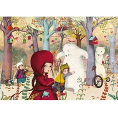 Meeting in the Forest - Wooden Jigsaw Puzzle (24 Pc) from Oompa Toys