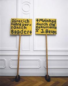 Joseph Beuys: Dürer, ich führe persönlich Baader + Meinhof durch die Dokumenta V (Dürer, I'll guide Baader and Meinhof through Dokumenta V personally)