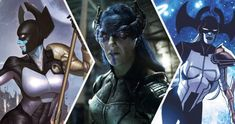 Proxima Midnight is a supervillain in Marvel Comics. She is a member of Thanos's Black Order, which was the source of inspiration for the Children of Comic Book Characters, Comic Books, Fictional Characters, Superhero Makeup, Proxima Midnight, Black Order, Bruce Banner, Team Leader, Source Of Inspiration