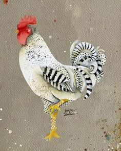 11x14 Art Print Rooster Wallace by TheOpulentNest on Etsy, $22.00