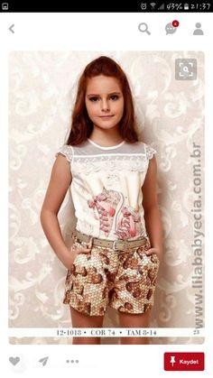 Little Girl Fashion, Kids Fashion, Fashion Outfits, Tween Girls, Kids Girls, Kids Outfits, Cool Outfits, Baby Dress Patterns, Girls Blouse
