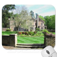 Queset House ~ mousepad ~   Queset House of Easton, MA was designed by noted architect Andrew Jackson Downing in 1854 under commission from industrialist Oakes Angier Ames.