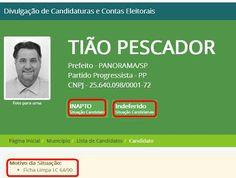 Curiosidades nas eleições 2016: Candidato a prefeito de Panorama tem registro…