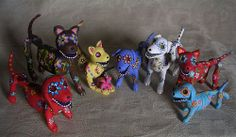 Day of the Dead Sugar Skull style animals