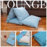 DIY Pillow Lounger Feature www.trinketsinbloom.com
