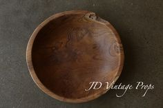 Polished Teakwood Bowl | JD Vintage Props