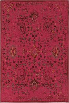 This traditional, polypropylene rug in saturated, bubble gum pink, is spicy, contemporary, and rich in history, all at the same time.