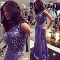 one shoulder prom dress, purple prom dress, charming prom dress, high quality prom dress, cheap evening gown, BD75
