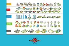 Isometric flat world collection v.1 by Sentavio on @creativemarket