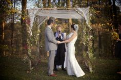 RM - Chuppah - Mother's veil and wedding dress.