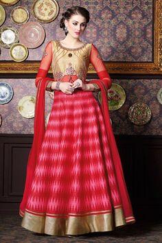 Pink Party Wear Designer Anarkali Salwar Suit