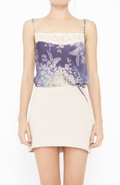 Chloe Purple, Ivory And Multicolor Top