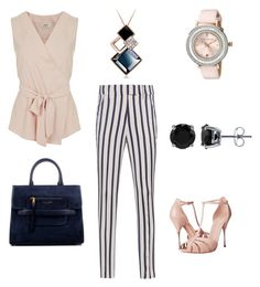 """Blush & Navy"" by laura-held on Polyvore featuring Miss Selfridge, Dondup, Alexander McQueen, Ted Baker, BERRICLE and Marc Jacobs"