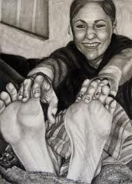 foreshortening - students draw each from challenging foreshortening angles
