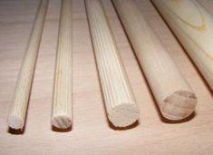 Bukové tyče 6mm-30mm dĺžka 1m