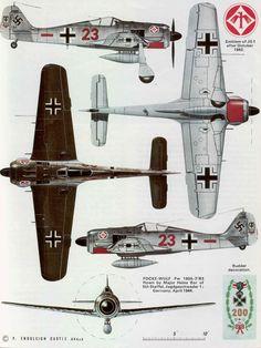 Focke-Wulf Fw via Tojo Ww2 Aircraft, Fighter Aircraft, Military Aircraft, Fighter Jets, Luftwaffe, Focke Wulf 190, Aircraft Painting, Airplane Art, Ww2 Planes