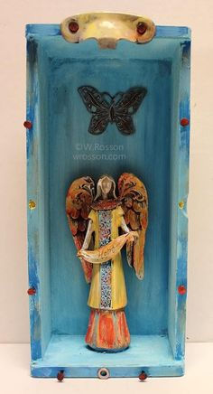 Hope Angel, Mixed Media/Assemblage Shrine, Junk Art, ©W.Rosson