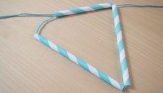 Papiergoed rietjes slinger-stap 3