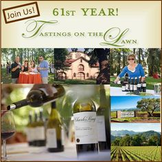 61st Annual TASTINGS ON THE LAWN, Saturday September 8, 2012 at 2:00 pm, featuring stupendous Charles Krug wines and a bountiful feast.