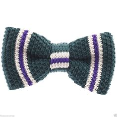 FLATSEVEN Mens Pre-Tied Knit Bow Tie Striped Pattern Bowtie (YB502) #FLATSEVEN #BowTie
