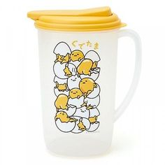 Gudetama-Water-Pot-Drink-Container-1-9L-Kawaii-Tableware-Sanrio-from-Japan-S3351