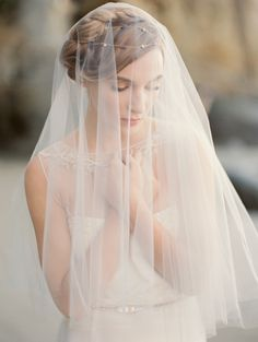 Beautiful and enchanting circle veil in bridal illusion tulle. The veil is secured in the hair with a tulle wrapped metal comb. The blusher is Available in white, ivory and diamond white. Tulle Wedding, Wedding Veils, Wedding Dresses, Bridal Veils, Bridal Beauty, Bridal Hair, Drop Veil, Trendy Wedding, Wedding Ideas