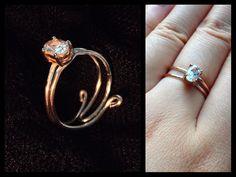 diamond ring #upcycled https://www.facebook.com/simplyshapedjewelry
