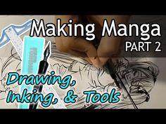 ❤ How to Make Manga (PART 2) ❤ Drawing, Inking, Toning, & Tools to Use (NO DIGITAL) - My Mangaka LIFE