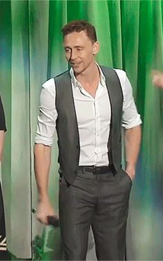 "Tom Hiddleston sings ""The Bare Necessities"" at Disney's D23 Expo 2013 (https://www.youtube.com/watch?v=kLhP-wDV8Pc )"